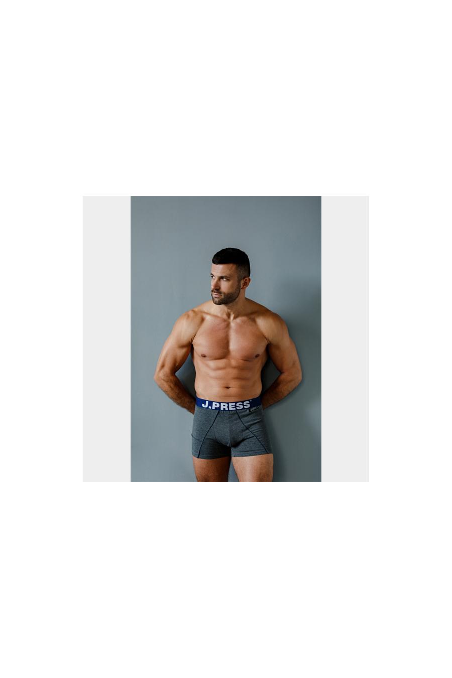 Férfi fehérnemű - J.PRESS - férfi boxer óvszertartó zsebbel J.PRESS