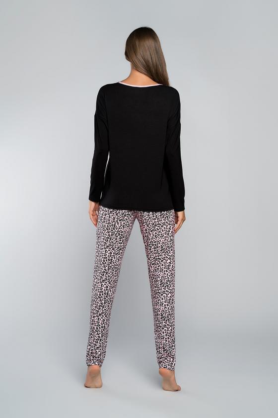 Hosszú ujjú - J.PRESS - Női leopárd mintás pizsama J.PRESS