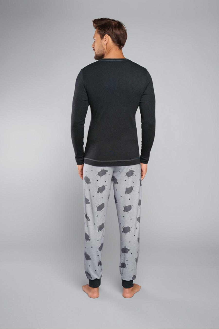 Hosszú ujjú - J.PRESS - Mintás férfi pizsama szett J.PRESS