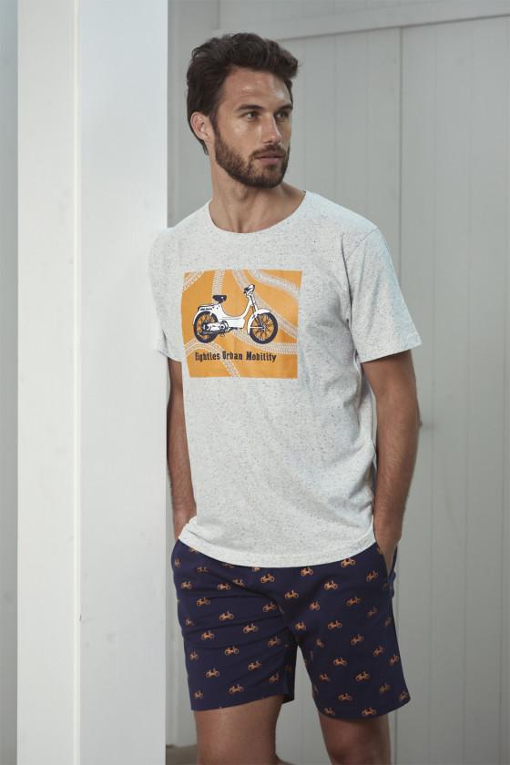 Rövid ujjú - ADMAS - Férfi rövid ujjú pizsama Belmanetti