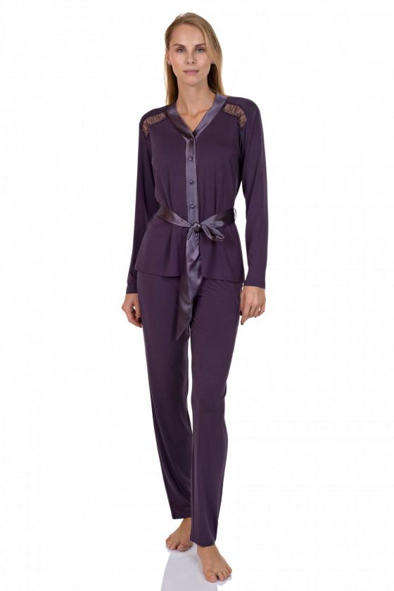 Hosszú ujjú - LISCA - Emanuelle 4P hosszú ujjú női pizsama LISCA