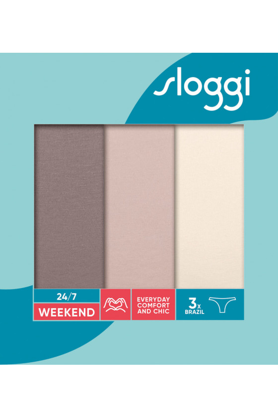 Kezdőlap - SLOGGI - 24/7 Weekend Brazil C3P három darabos női alsó SLOGGI